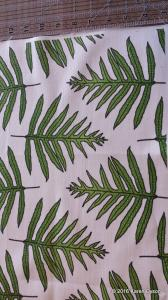 Fabric in Real Life Green Fern Array
