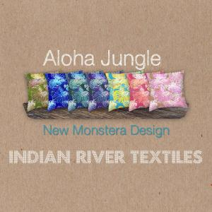 Indian River Textiles New Monstera Jungle Designs